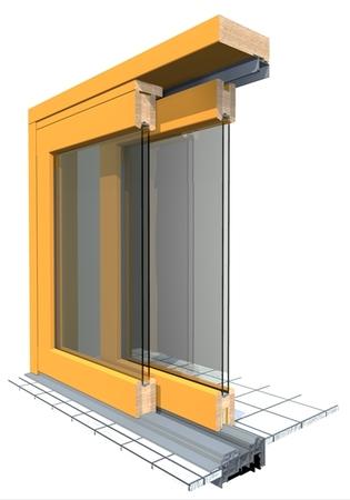Prosklené posuvné dveře